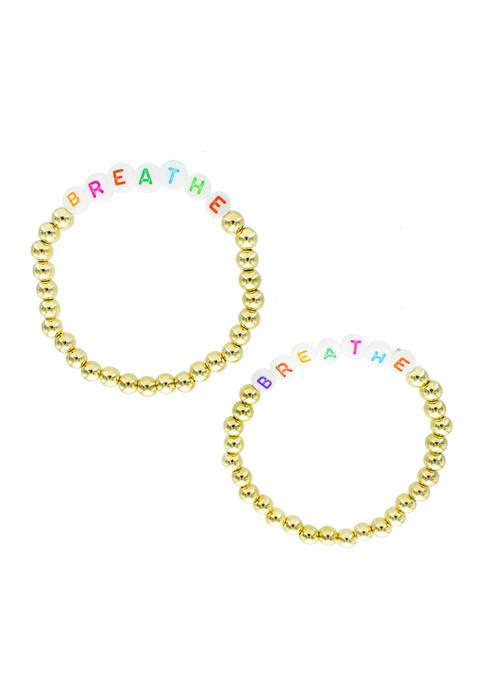 evie & emma Multi Color Beaded Breathe Bracelet