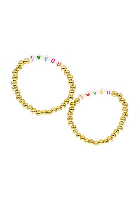evie & emma Multi Color Gold Bead I