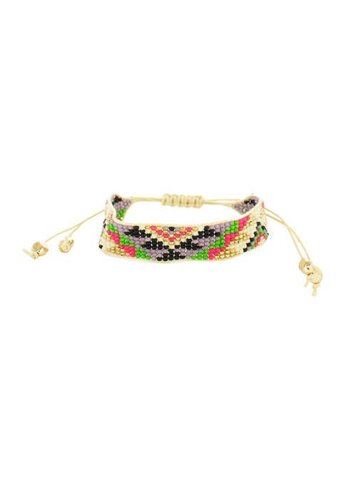 Multi-Color Beaded Tribal Bracelet
