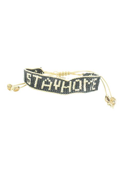evie & emma Stay Home Beaded Bracelet
