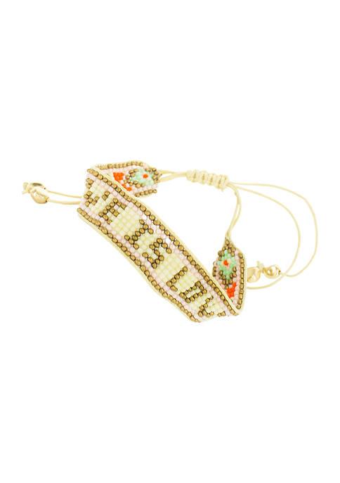 evie & emma Love Is Love Beaded Bracelet