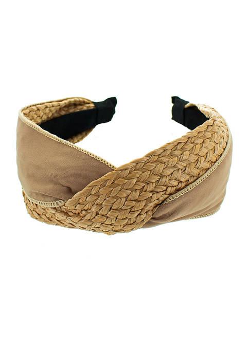 evie & emma Beige Rattan Headband