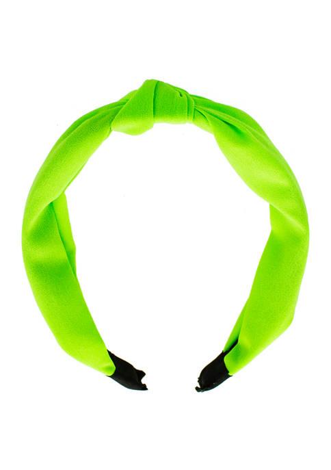evie & emma Lime Green Knotted Headband