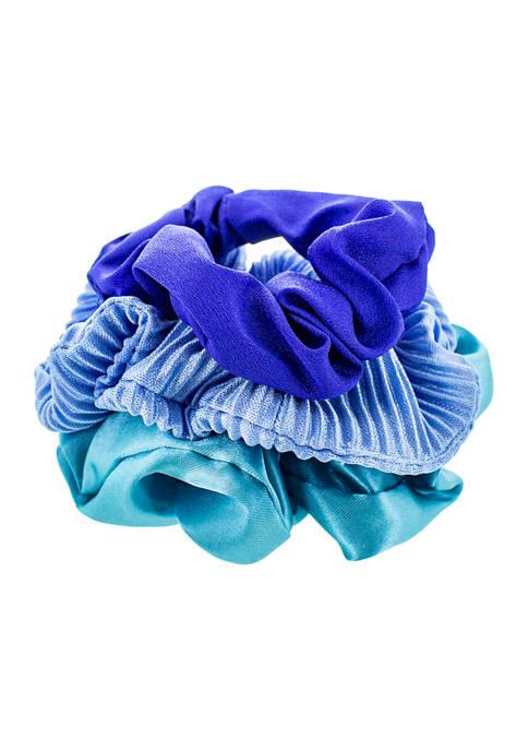 evie & emma Blue Gradient Scrunchie Set