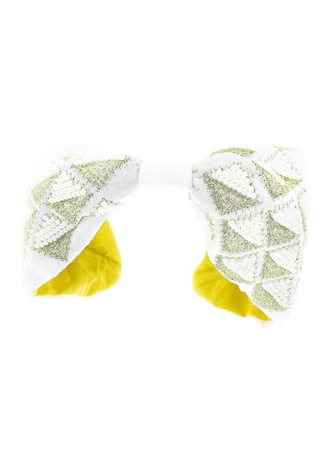 evie & emma White and Gold Beaded Headband