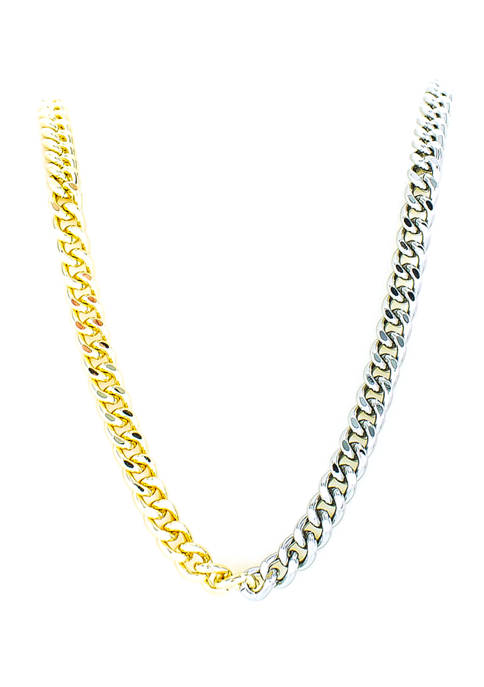 evie & emma Two-Tone Curb Chain Toggle Necklace