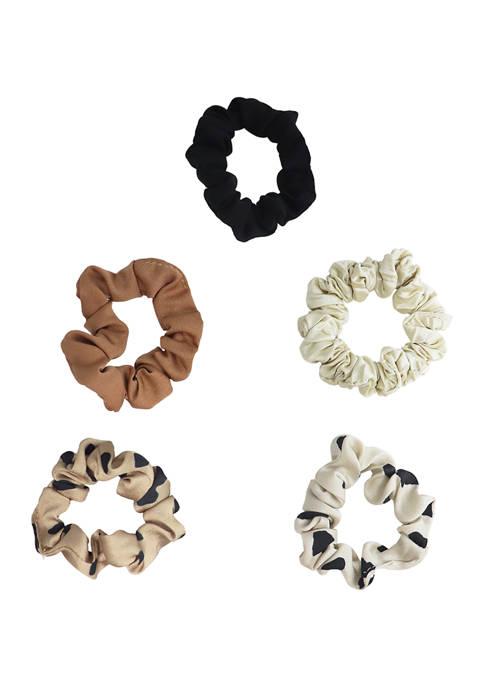 evie & emma 5 Piece Multi Color Scrunchie