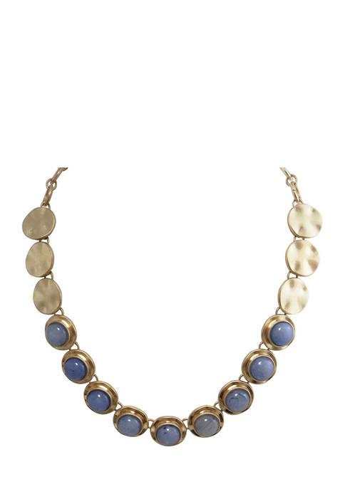 evie & emma Semi Precious Stone Gold Tone