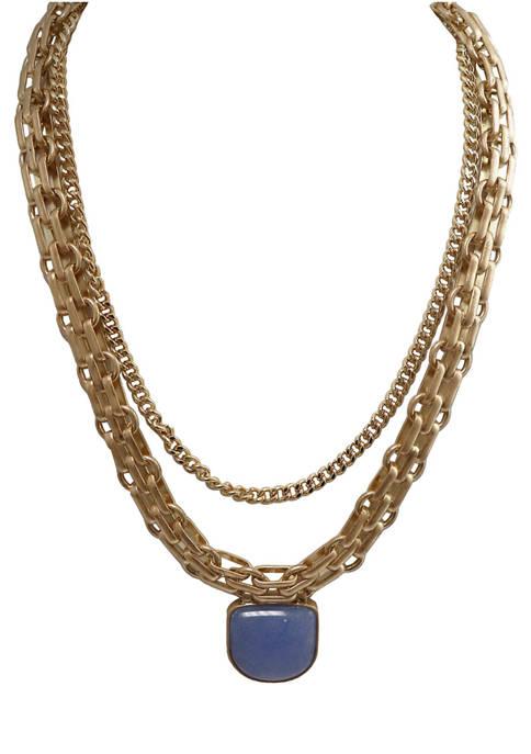 evie & emma Semi Precious Light Blue Gold