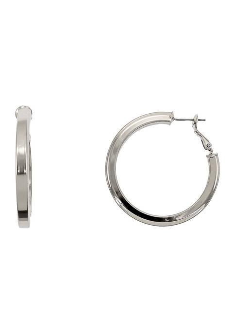 Square Edge Hoop Earrings
