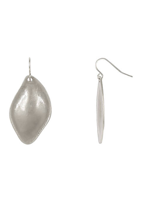Oval Petal Drop Earrings