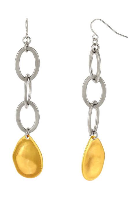 New Directions® Double Open Link Teardrop Earrings