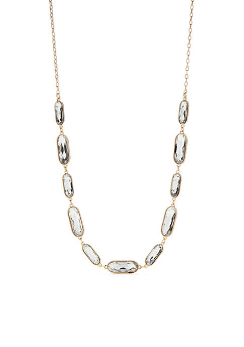 Casual Stone Long Necklace