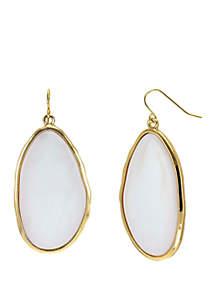 Resin Cabochon Drop Earrings