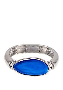 New Directions® Resin Cabochon Center Stretch Bangle Bracelet