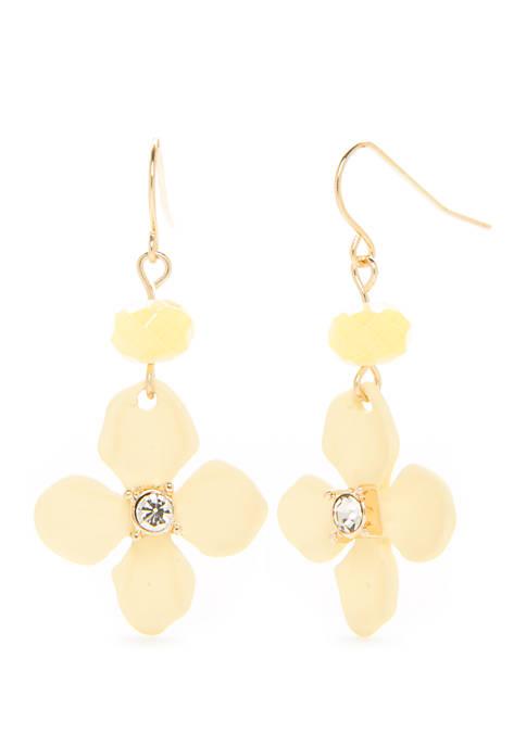 Single Flower Drop Earrings