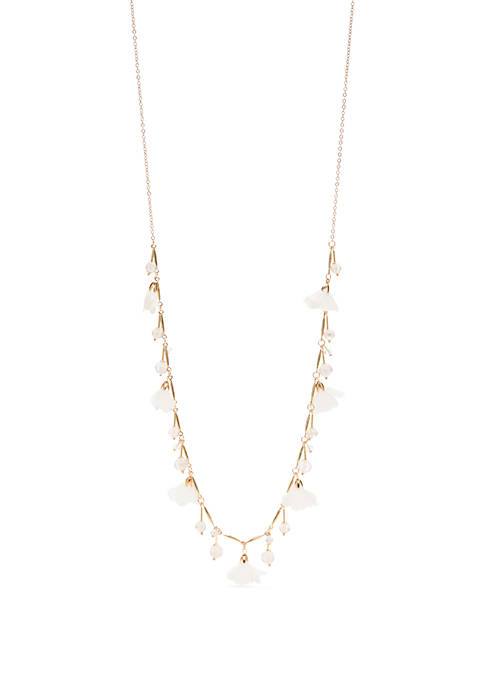 Long Flower Shaky Necklace