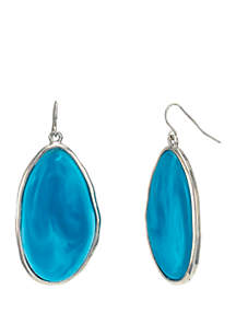 New Directions® Large Single Resin Drop Earrings