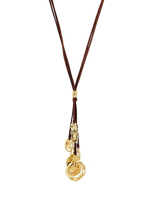 Multi Disc Tassel Long Necklace