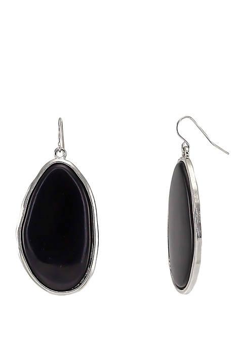 Large Single Resin Drop Earrings