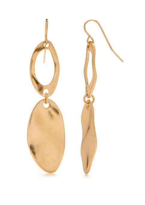 Large Oval Link Earrings