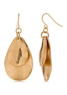New Directions® Double Drop Organic Teardrop Earrings