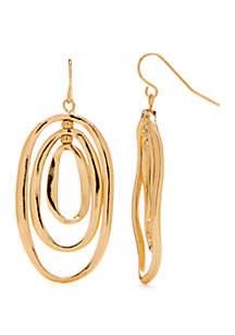 New Directions® Shiny Triple Oval Drop Earrings
