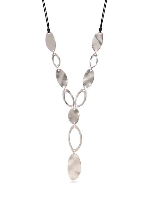 Silvertone 22 Inch Long Necklace