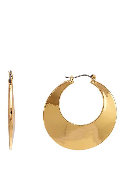Wide Crescent Hoop Earrings
