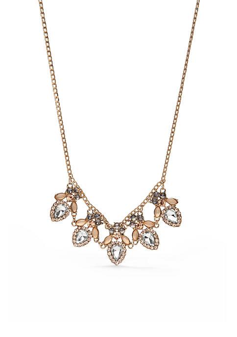 Gold-Tone Winter Garden Collar Necklace