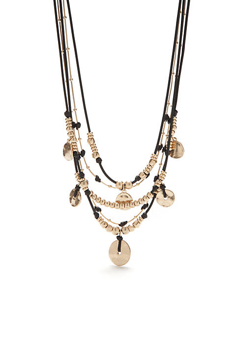 New Directions® Gold-Tone Casual Metals Multi-Strand Necklace