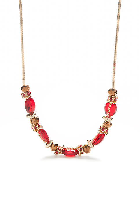 New Directions® Gold-Tone Beaded Collar Necklace