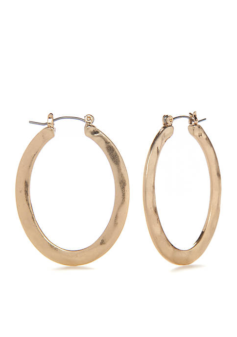 New Directions® Gold Oval Hoops