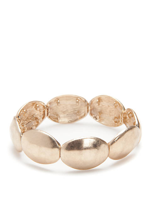 New Directions® Gold-Tone Disc Stretch Bracelet