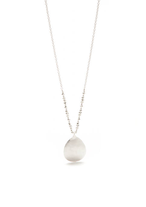 New Directions® Silver-Tone Long Teardrop Pendant Necklace