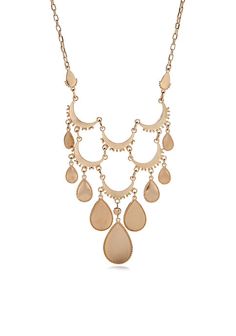 New Directions® Gold-Tone Teardrop Statement Necklace