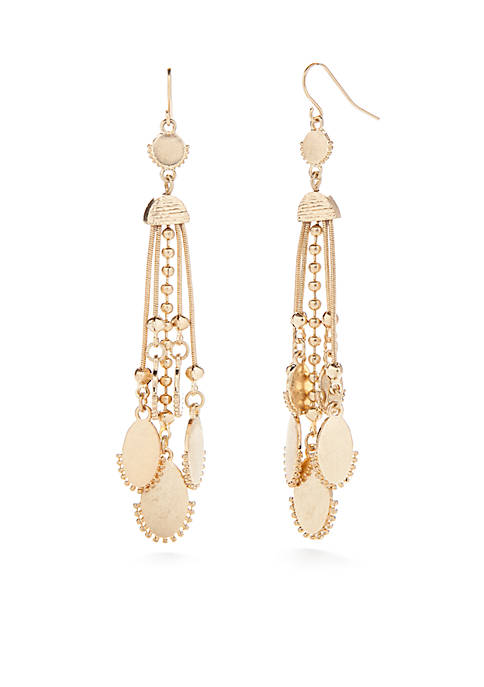 New Directions® Gold-Tone Long Linear Drop Earrings