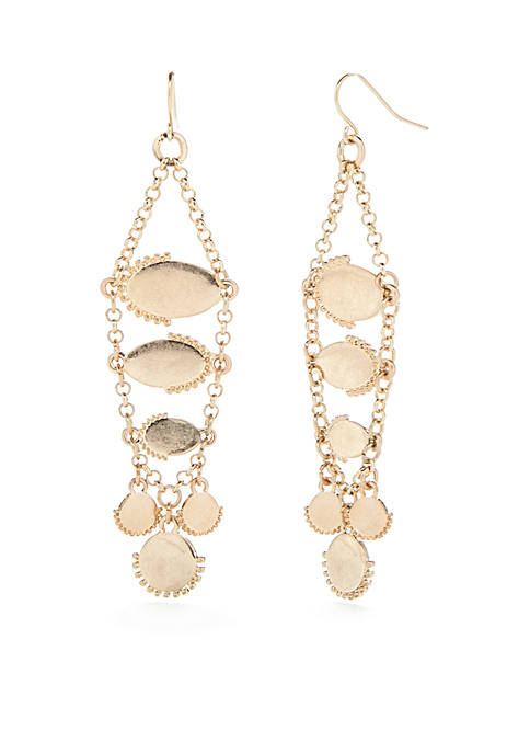 New Directions® Gold-Tone Long Chain Drop Earrings