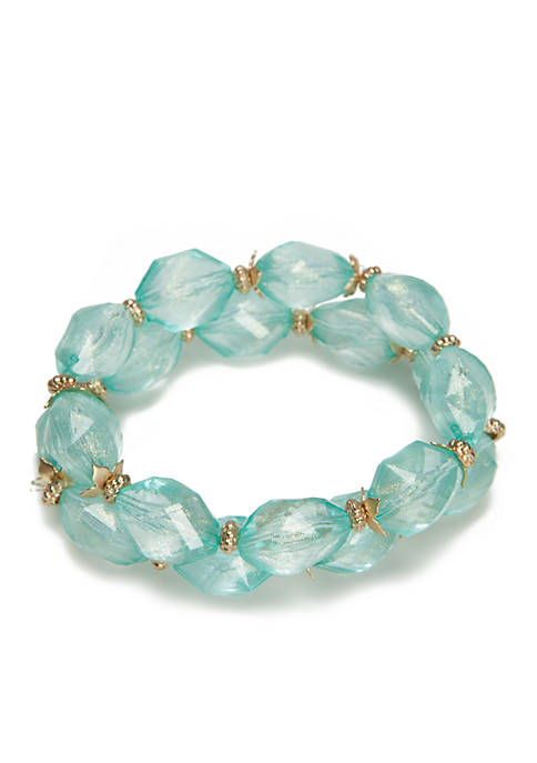 New Directions® 2-Row Green Bead Stretch Bracelet