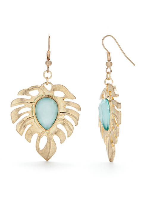 New Directions® Large Palm Drop Earrings