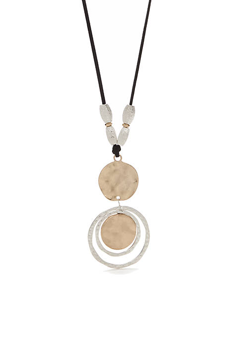 Two-Tone Double Pendant Necklace