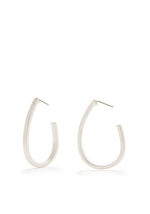 New Directions® Silver-Tone Replen Hoop Earrings