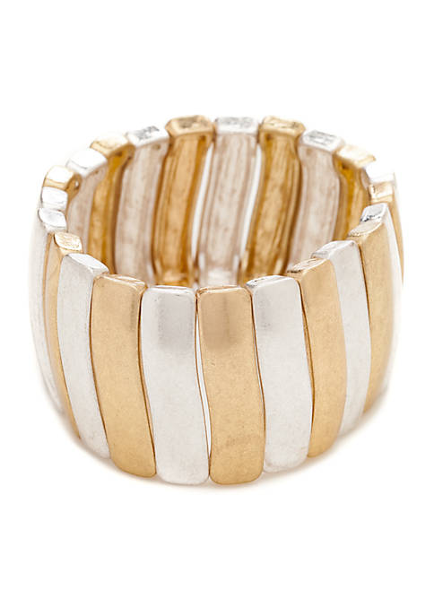 New Directions® Two-Tone Link Stretch Bracelet