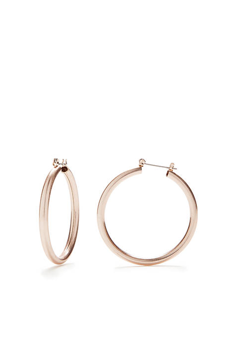 New Directions® Rose Gold-Tone Replenishment Hoop Earrings