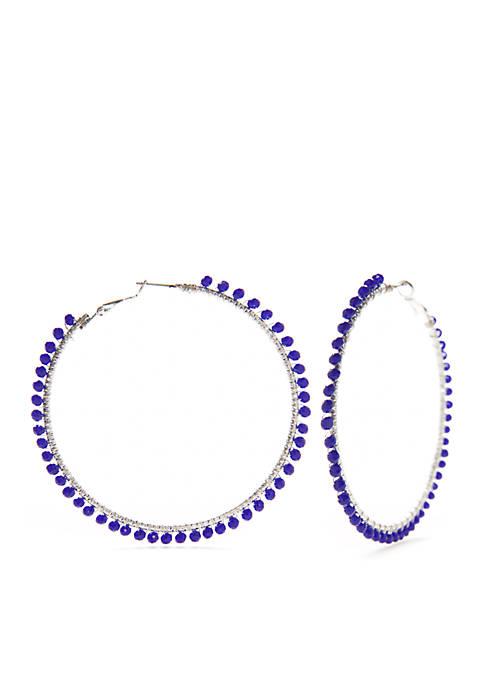 New Directions® Large Beaded Hoop Earrings
