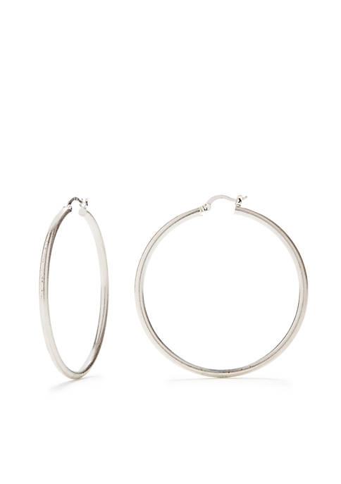 Silver-Tone Replen Hoop Earrings