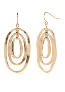 Gold-Tone Orbital Earrings