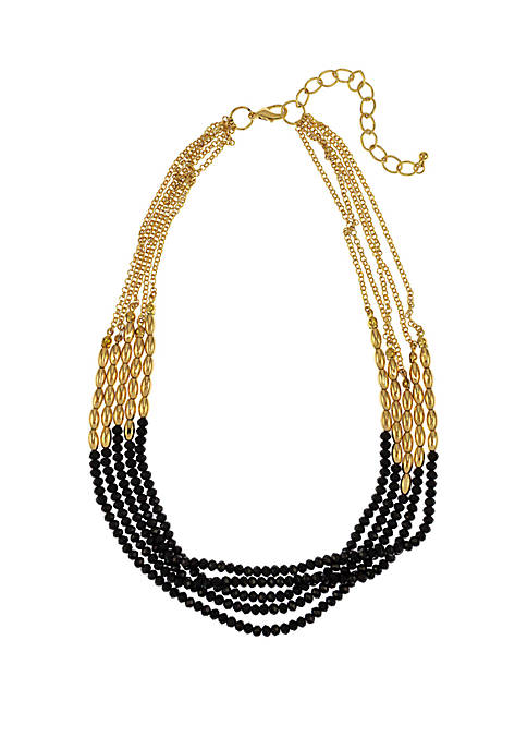 New Directions® Gold-Tone 5-Row Short Necklace