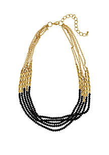Gold-Tone 5-Row Short Necklace