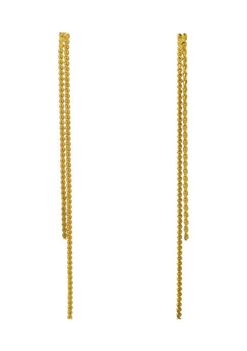 Belk Gold Tone Post Double Linear Snake Chain